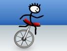 Bisiklet ile düşmeden dengede durun..!
